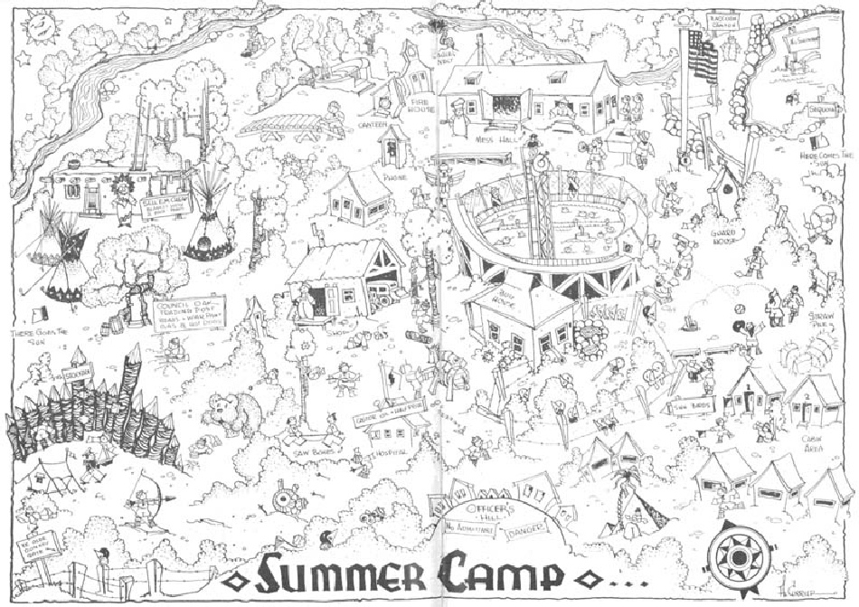 Map of Camp Dimond from 1932 Scout Scribe Newsletter