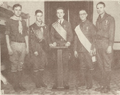 San Francisco Council Chapter 1 Officers (March 1926) From Left to Right: Past Commander-Lou B Malloy, Senior Councilor-Scott McDonald, Commander-Clement F Schable, Junior Councilor-Raymond Moyle, Past Commander-Jack McDonald