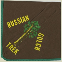 Russian Gulch neckerchief, image courtesy of the Keith McComb collection