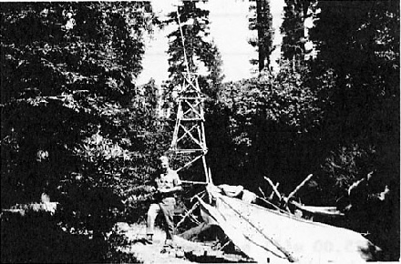 Pioneering tower at Russian Gulch, c 1966
