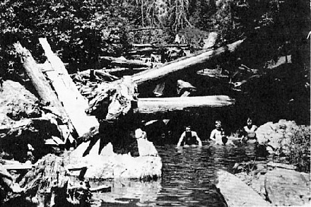 Russian Gulch swimming hole, c 1966)