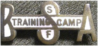 Training Camp Pin, c 1918, Image Courtesy of the Adam Lombard Camp Collection