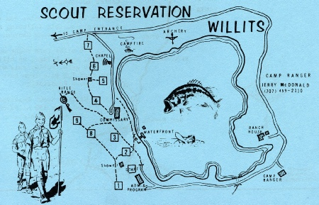 Camp Site Map, 1969