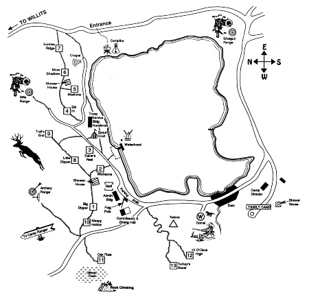 Camp Site Map, 2000