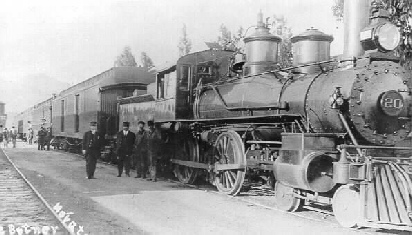 NWP Engine 20, the train that took the scouts from Sausalito to Royaneh