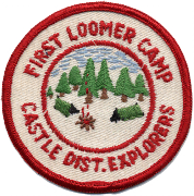 First Camp Loomer patch, c 1957