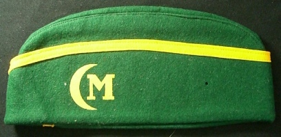 Crescent M hat (c 1940), Image Courtesy of the Adam Lombard Collection
