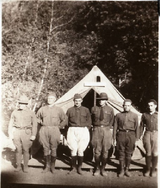 Scout Leaders at Training Camp, c 1920