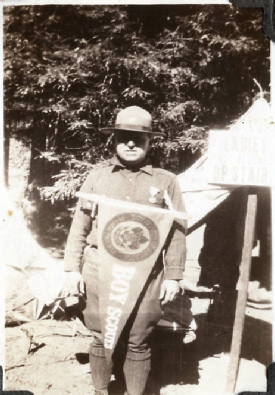 Scout Leader at Training Camp, c 1920