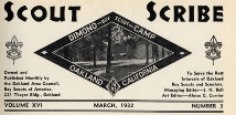 Scout Scribe, Publication of the Oakland Area Council (c 1922)